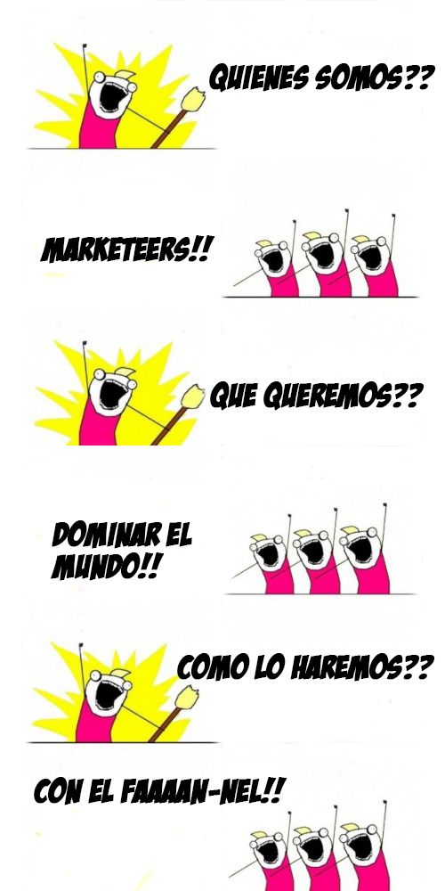 Funnel marketers